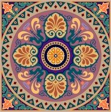 Arabesque Cushion Needlepoint Canvas Lena Lawson (ar9-ar-01c2)