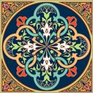 Arabesque Cushion Needlepoint Canvas Lena Lawson (ar9-ar-08c)