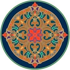 Arabesque Cushion Needlepoint Canvas Lena Lawson (ar9-ar-07c)