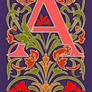 Initial Letter A Style Victorian Needlepoint Canvas (ar7-vic-a)