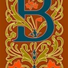 Initial Letter B Style Victorian Needlepoint Canvas (ar7-vic-b)