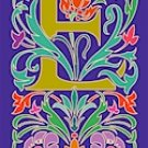 Initial Letter E Style Victorian Needlepoint Canvas (ar7-vic-e)