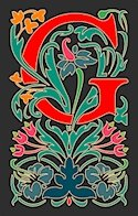 Initial Letter G Style Victorian Needlepoint Canvas (ar7-vic-g)