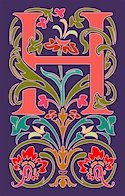 Initial Letter H Style Victorian Needlepoint Canvas (ar7-vic-h)