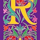 Initial Letter R Style Victorian Needlepoint Canvas (ar7-vic-r)