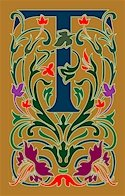 Initial Letter T Style Victorian Needlepoint Canvas (ar7-vic-t)