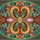 Victorian Ornamental Cushion Needlepoint Canvas (ar9-vc-25c)