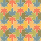 American Quilt Geese Cushion Needlepoint Canvas (ar18-012c)