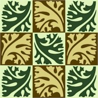 Collage Leaves Pattern Cushion Needlepoint Canvas (ar18-068c)