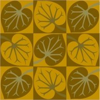 Collage Leaves Pattern Cushion Needlepoint Canvas (ar18-044c)