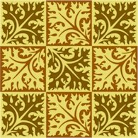 Collage Leaves Pattern Cushion Needlepoint Canvas (ar18-100c)