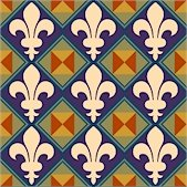 Fleur de Lis Pattern Cushion Needlepoint Canvas (ar18-090c)