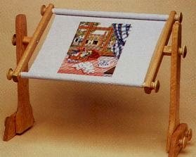Needlework stand with frame ez stitch lap table model for Table th no scroll