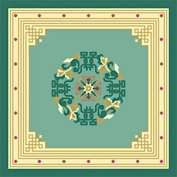 Pekin Green Needlepoint Canvas Caron Collection (cc-5002-18&13)