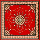 Ispahan Red Needlepoint Canvas Caron Collection (cc-5004)