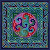 Celtic Spiral Small Cushion Needlepoint Canvas (ll-celtic-16-c-sm)