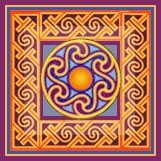 Celtic Spiral Small Cushion Needlepoint Canvas (ll-celtic-17-c-sm)