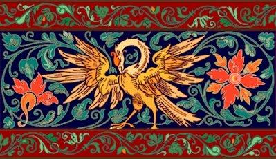 Victorian Eagle Needlepoint Cushion Canvas (ar09-vc-02c)
