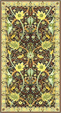 William Morris Bullerswood Carpet Rug Needlepoint Canvas (wm03r)