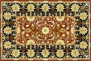 William Morris Hammersmith Carpet Rug Little Flowers Short Needlepoint Canvas (wm02r-short)