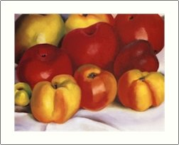 Georgia O'Keeffe Apple Family Needlepoint Design by Lena Lawson (ok-03)