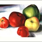 Georgia O'Keeffe Apples Needlepoint Design by Lena Lawson (ok-04)