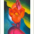 Georgia O'Keeffe Canna Needlepoint Design by Lena Lawson (ok-01)