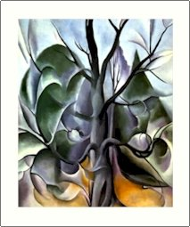 Georgia O'Keeffe Grey Tree Needlepoint Design by Lena Lawson (ok-26)