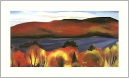 Georgia O'Keeffe Lake George Autumn Needlepoint Design by Lena Lawson (ok-32)