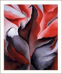 Georgia O'Keeffe Maple Leave Needlepoint Design by Lena Lawson (ok-38)