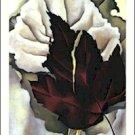 Georgia O'Keeffe Pattern of Leaves Needlepoint Design by Lena Lawson (ok-43)