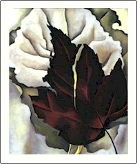 Georgia O'Keeffe Pattern of Leaves Needlepoint Design by Lena Lawson (ok-43)
