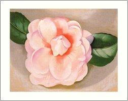 Georgia O'Keeffe Pink Camellia Needlepoint Design by Lena Lawson (ok-47)