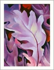 Georgia O'Keeffe Purple Leaves Needlepoint Design by Lena Lawson (ok-51)