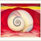 Georgia O'Keeffe Shell Needlepoint Design by Lena Lawson (ok-61)