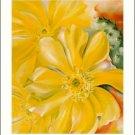 Georgia O'Keeffe Yellow Cactus Needlepoint Design by Lena Lawson (ok-73)