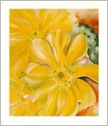 Georgia O'Keeffe Yellow Cactus Needlepoint Design by Lena Lawson (ok-73)