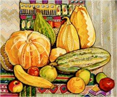 Still Life With Pumpkins Needlepoint Canvas (ig-07)
