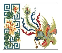 Chinese Oriental Phoenix Cushion Canvas (ll-or-01-c)