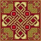 Celtic Cross Knotwork Miniature Needlepoint Canvas (cb-celtic-103)