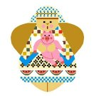 Needlepoint Canvas Daphne Angel by In Good Company (LAS020)