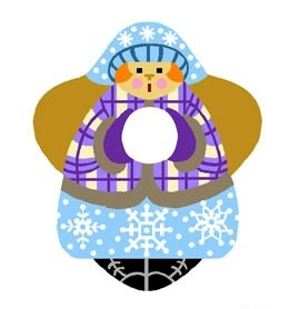 Needlepoint Canvas Snow Angel by In Good Company (LAS032)