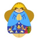 Needlepoint Canvas Nativity Angel by In Good Company (LAS038)