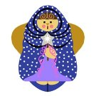 Needlepoint Canvas Silent Night Angel by In Good Company (LAS067)
