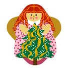 Needlepoint Canvas OH Tannenbaum a Angel by In Good Company (LAS072)