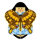 Needlepoint Canvas Swallowtail Angel by In Good Company (LAS086)