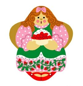 Needlepoint Canvas Strawberry Shortcake Angel by In Good Company (LAS093)