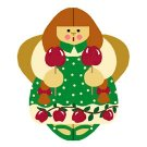 Needlepoint Canvas Candy Apple Angel by In Good Company (LAS098)