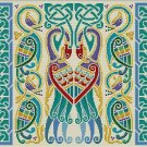 Celtic Peacocks Cushion Needlepoint Canvas (cb-celtic-04-c)