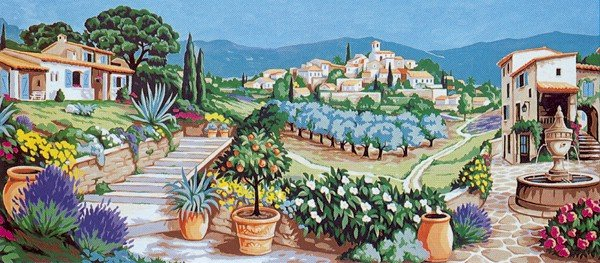 Needlepoint Canvas by Margot Douce Provence (margot-173-3096)